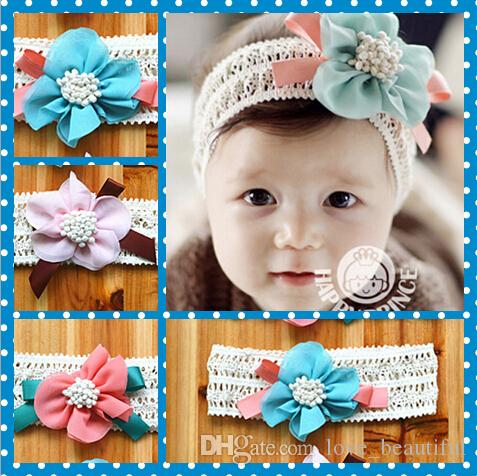 67364ffa3fb Pretty Baby Hair Accessories For Infant Baby Lace Big Flower Bow Princess Babies  Girl Hair Band Headband Baby S Head Band Kids Infant Hair Accessories ...