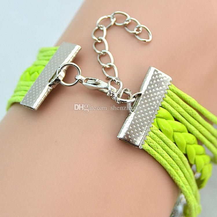 kleiner auftrag mode Unendlichkeit Antike Charme Liebe Eule Anchor Charms Unendlichkeit lederarmband Mix Farben Lederarmbänder Wraps armband