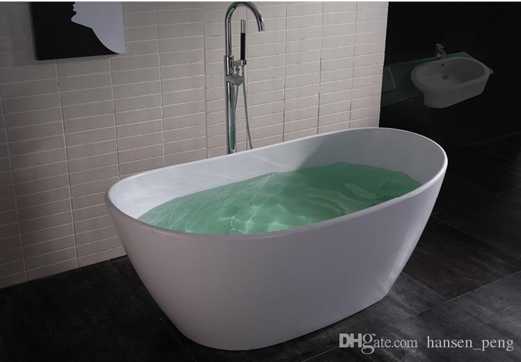 1630mm Elegent Solid Surface Acrylic Bathtub With Drainer Overflow ...