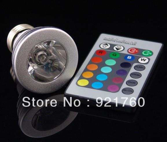 best 3w e27 farbwechsel rgb led licht lampe birne 85 265v ir fernbedienung led spot lamp rgb. Black Bedroom Furniture Sets. Home Design Ideas