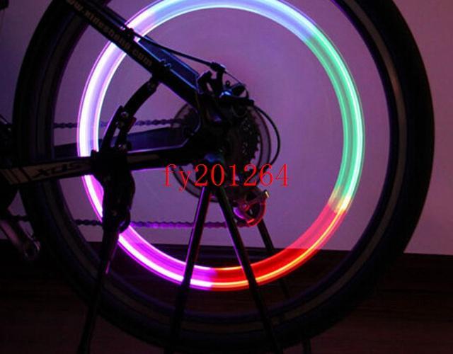 Livraison gratuite couleur LED lampe de poche vélo cyclisme moteur voiture pneu pneu valve valve roue lumière transformation 5 couleur, /