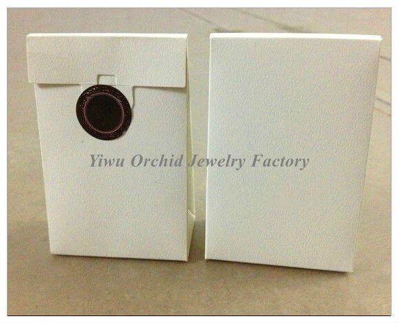 Оптовая 50 шт. изысканный высокое качество мини белый бумажный мешок подарочная коробка 9 * 6*3 см подходит Pandora шкатулка подвески бусины кольца упаковка мешок
