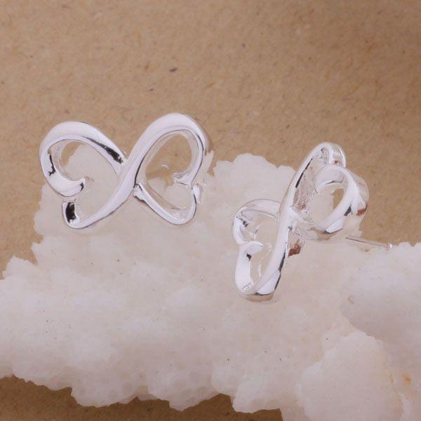 Мода изготовление ювелирных изделий 40 шт много 8-образной серьги стерлингового серебра 925 заводская цена мода обуви серьги