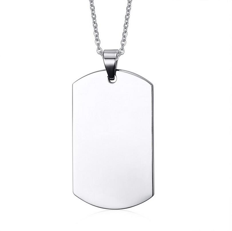 chain military necklace shiny dog tag semi product ball custom personalized