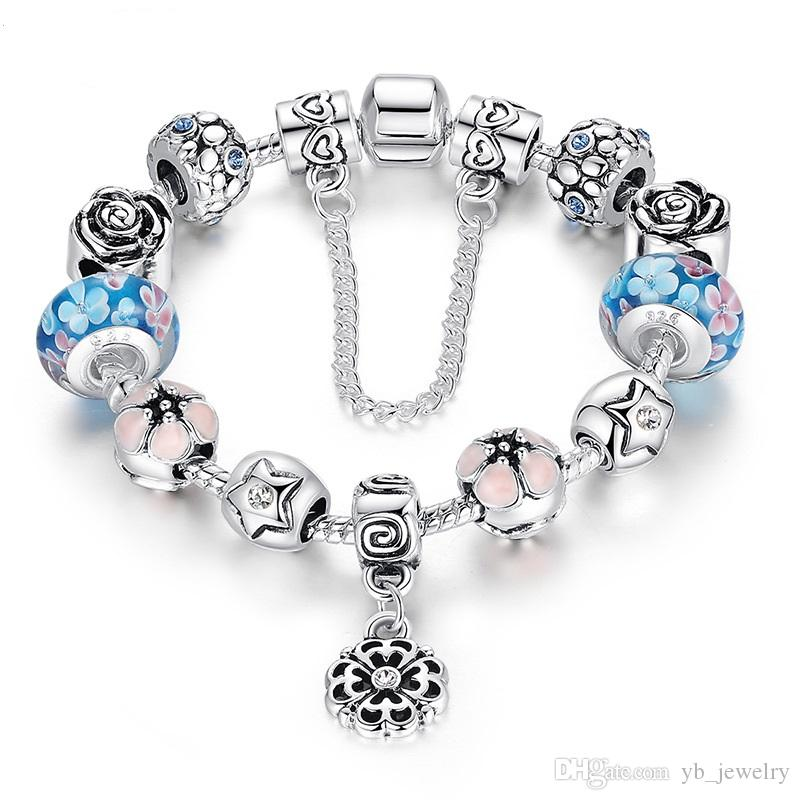 ea100a04a 2019 Hot Selling DIY Pandora Bracelet Double Layers Plating 925 Silver  Copper Alloy Colored Glass Beads Rhinestone Beaded Strands Bracelet From  Yb_jewelry, ...