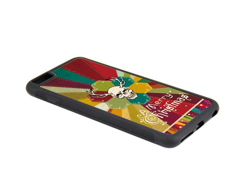 Najlepsze Sublimacja Gumowa skrzynka dla iPhone 6 Plus z płytami i klej Darmowa wysyłka 100 sztuk