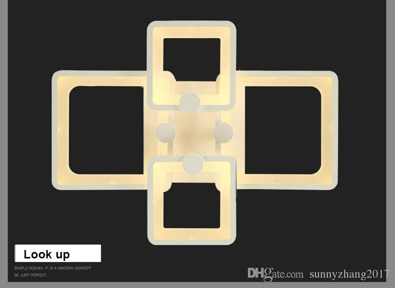 الصمام الخفيفة الحديثة أدى أضواء السقف 110 فولت 220 فولت ل غرفة المعيشة luminaria بقيادة مصباح غرفة نوم داخلي الرئيسية ديسمبر مصباح السقف