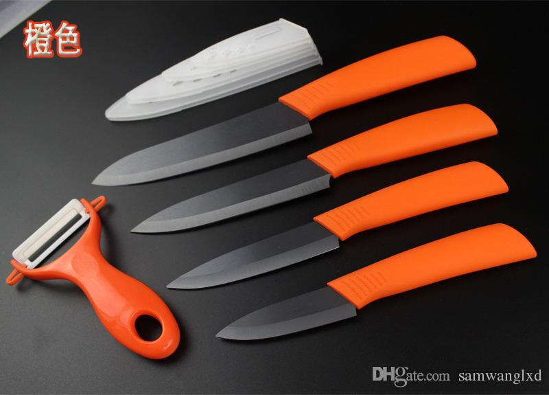 """Brand top quality Mother's Day Gifts set Zirconia kitchen knife set Ceramic Knife set 3"""" 4"""" 5"""" 6"""" inch+ Peeler+Covers Kitchen Knives"""