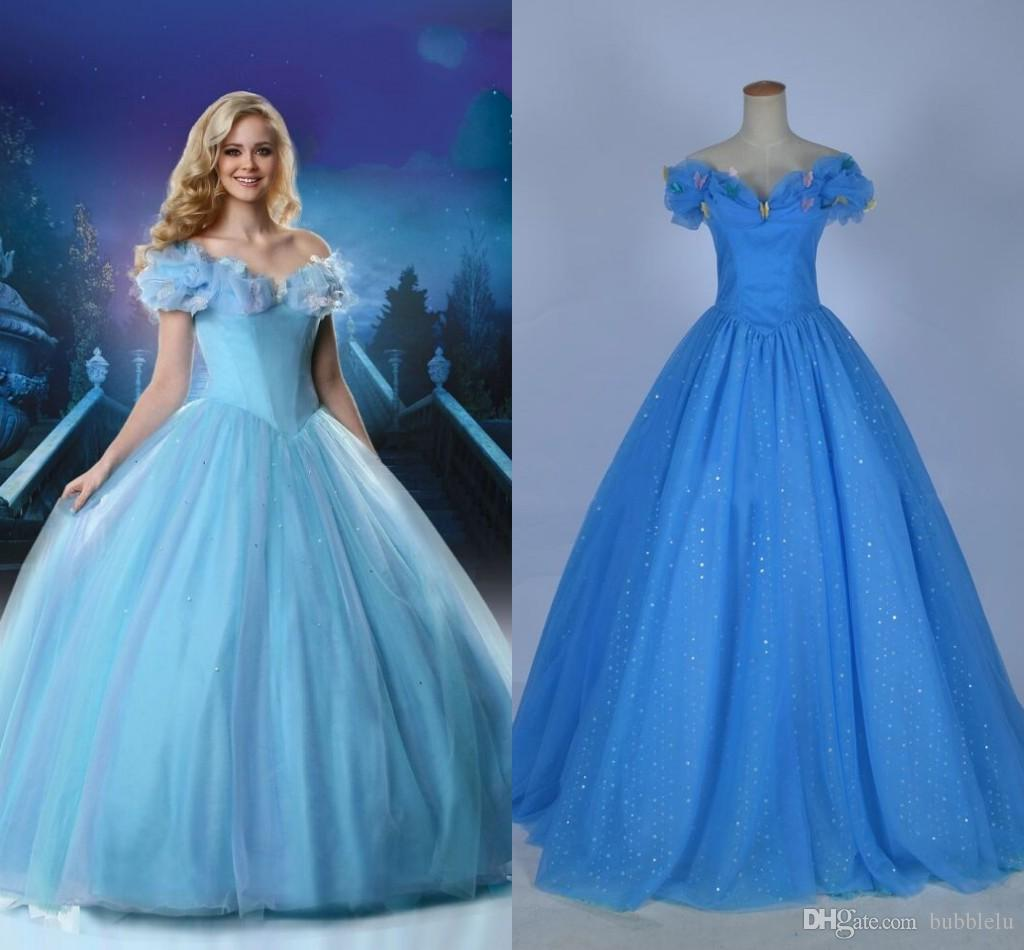 Cinderella bridal gown 2015 movie ball gown organza floor length cinderella bridal gown 2015 movie ball gown organza floor length back lace up real photos bow princess blue wedding dresses exotic wedding dresses fashion ombrellifo Image collections