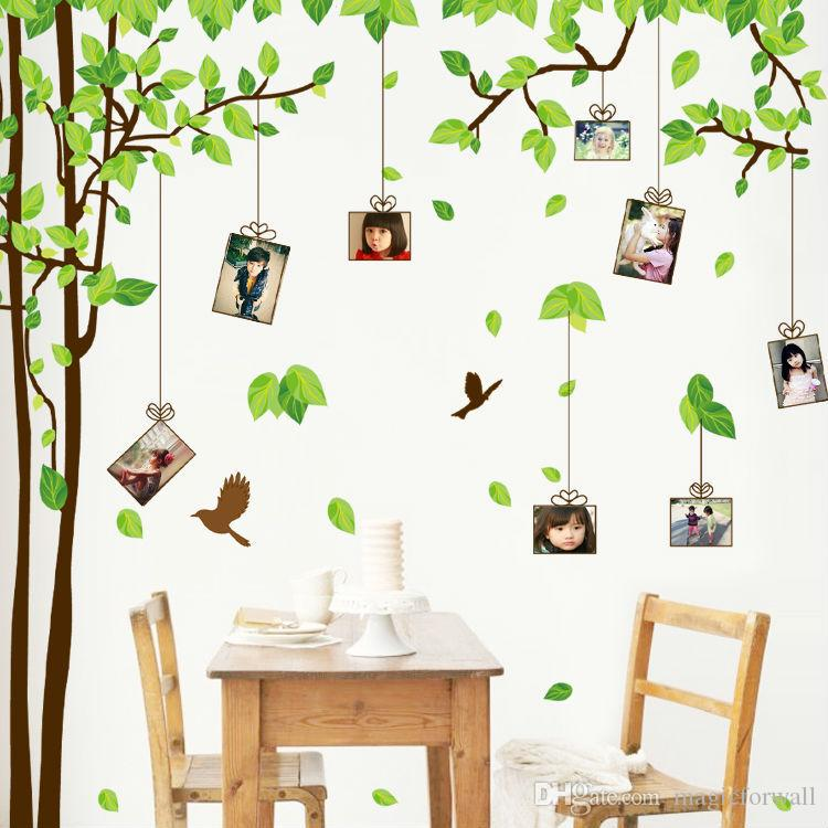 Picture Frame Wall Decals large family tree picture photo frame wall decal living room