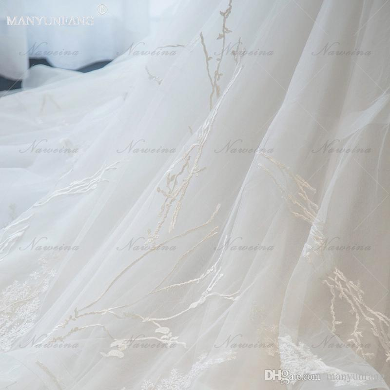 2018 Zipper Vintage Wedding Dresses Wave Details Tiered Skirts Lace Square Poet Cascading Ruffles Custom Made A-Line Bride Bridal Gowns