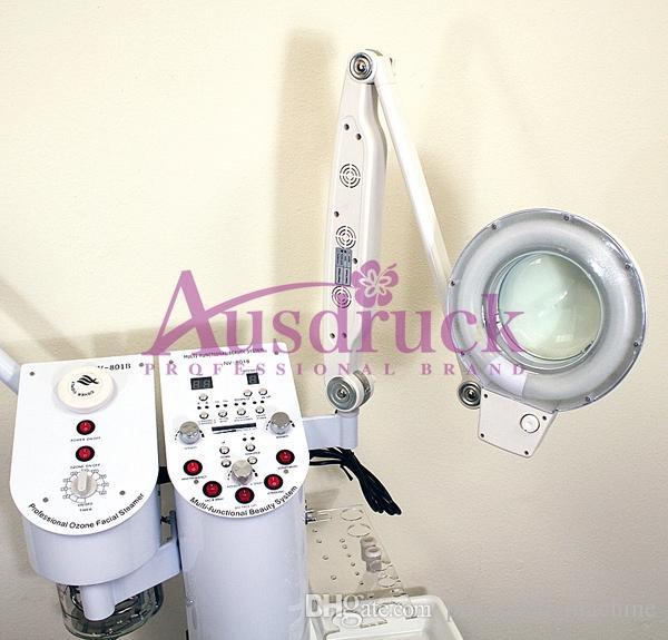 Soins de la peau multifonction Diamond Dermabrasion peeling Ultrasonic Scrubber Ozone Steamer Haute fréquence Galvanic machine de salon de beauté
