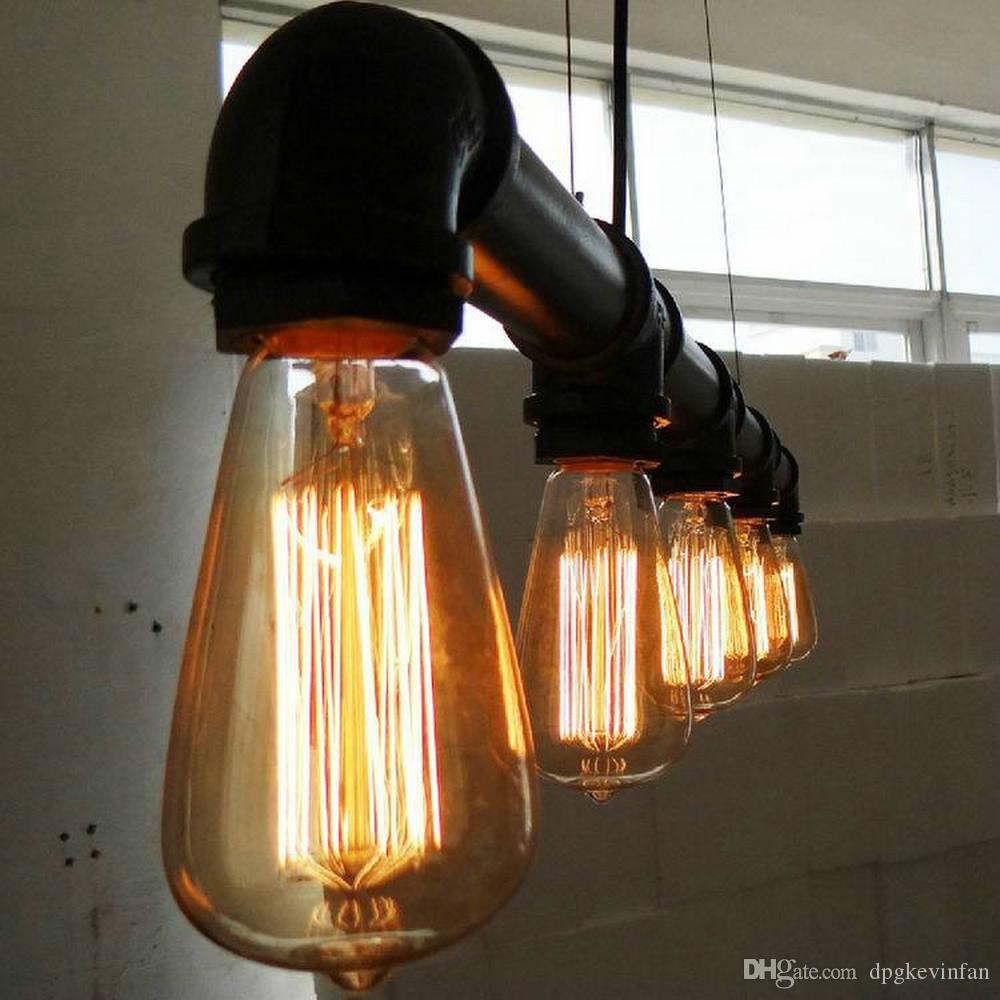 Pendant Lights Artistic Five Heads Retro Industrial Waterpipe Chandelier E27 Lighting Living Room Dining