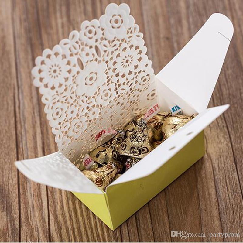Wedding Favor Gift Boxes Green Wedding Candy Box Elegant Lemon Romantice Decoration Laser Lawm and Outdoor Wedding Laser Cut