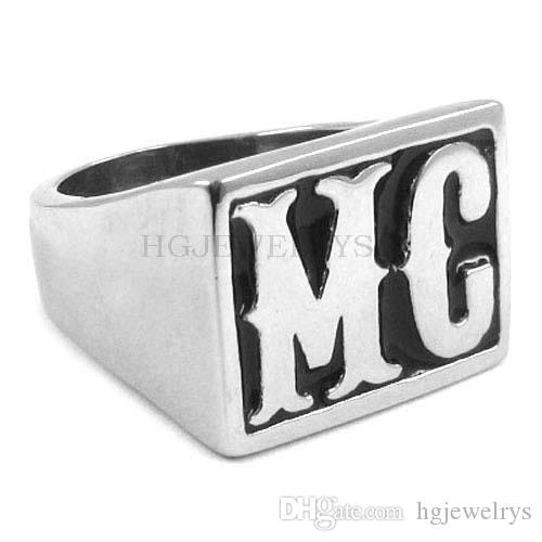! Motorcycles Biker MC Ring Stainless Steel Ring Jewelry Classic Punk Motor Biker Men Ring SWR0257H