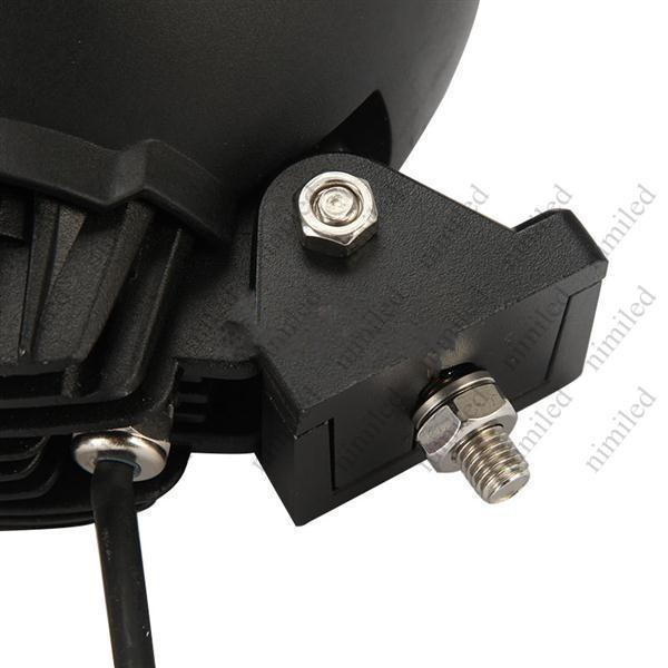 UTV Round Cree led Light for Truck 45W 4X4 LED Work Light ATV AWD 12V/24V Car offroad Light 4WD Spot 30 Degree 4500lm 3X15W HSA1928