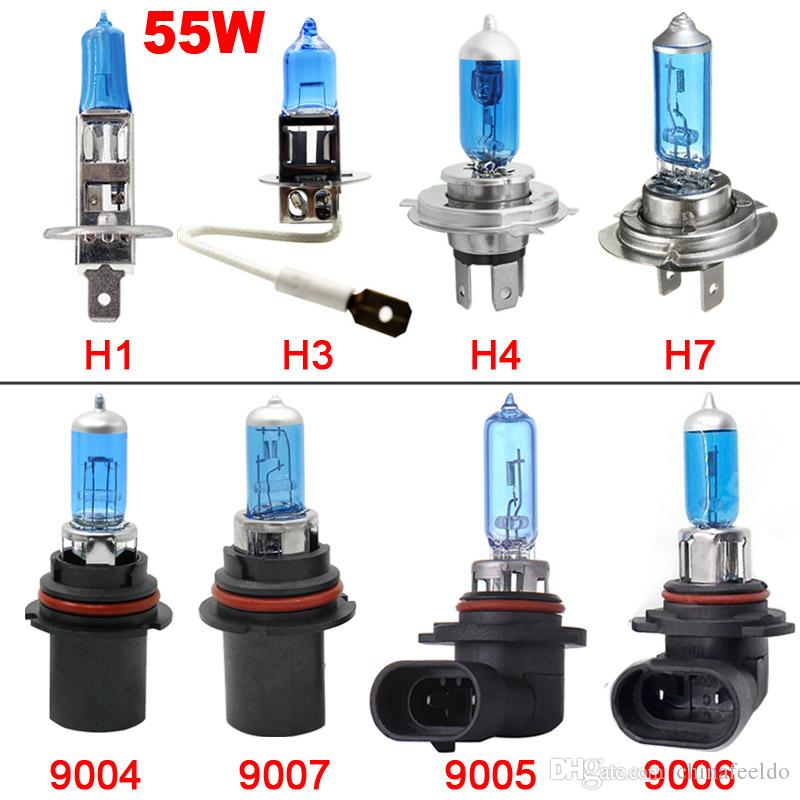 wholesale Car H4 55W/100W 12V White Fog Lights Halogen Bulb Car Headlights Lamp Car Light Source Parking #2030