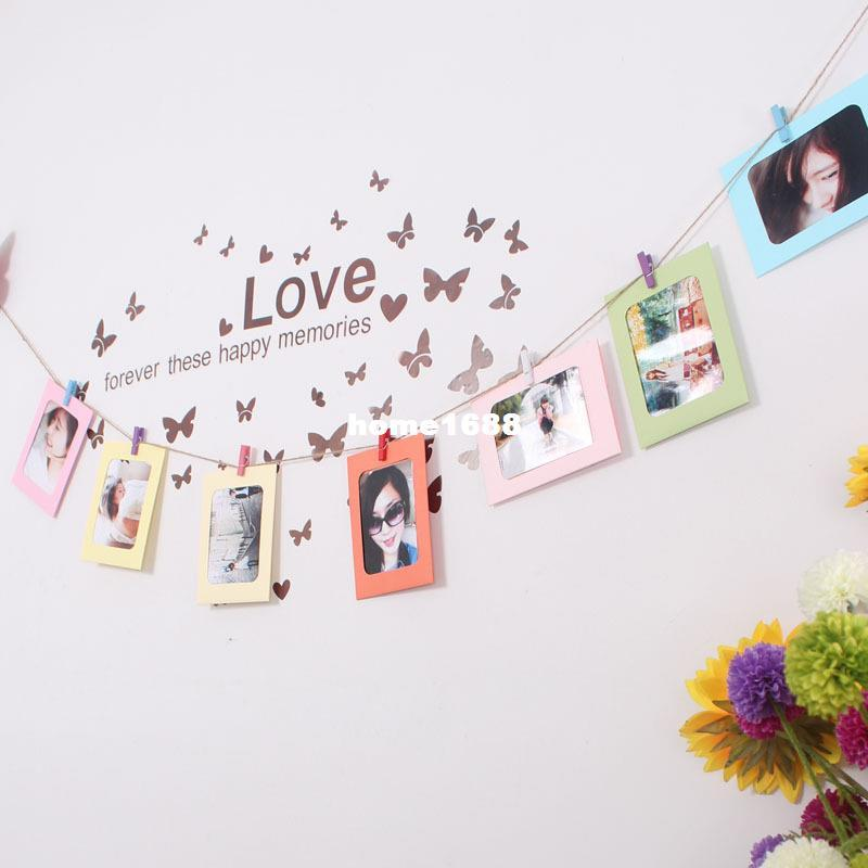 DIY Suspension Type Paper Frame 6 -inch Photo Wall with Hemp And ...