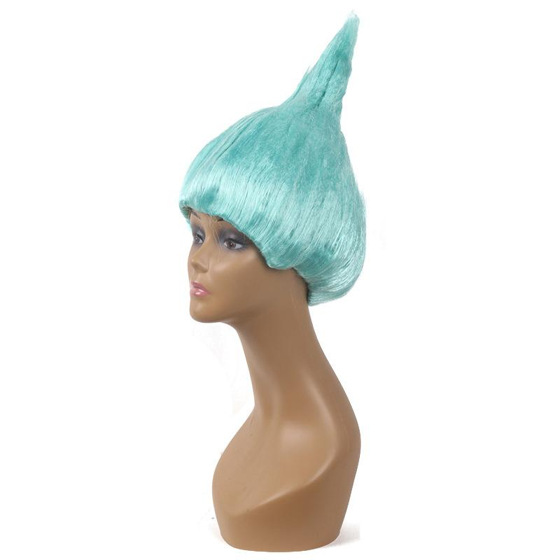 Trolls Wig Cosplay Wig Halloween Wigs Colorful Troll Costume Hair Unisex Halloween Cosplay Decorations for Children and Adults OTH679