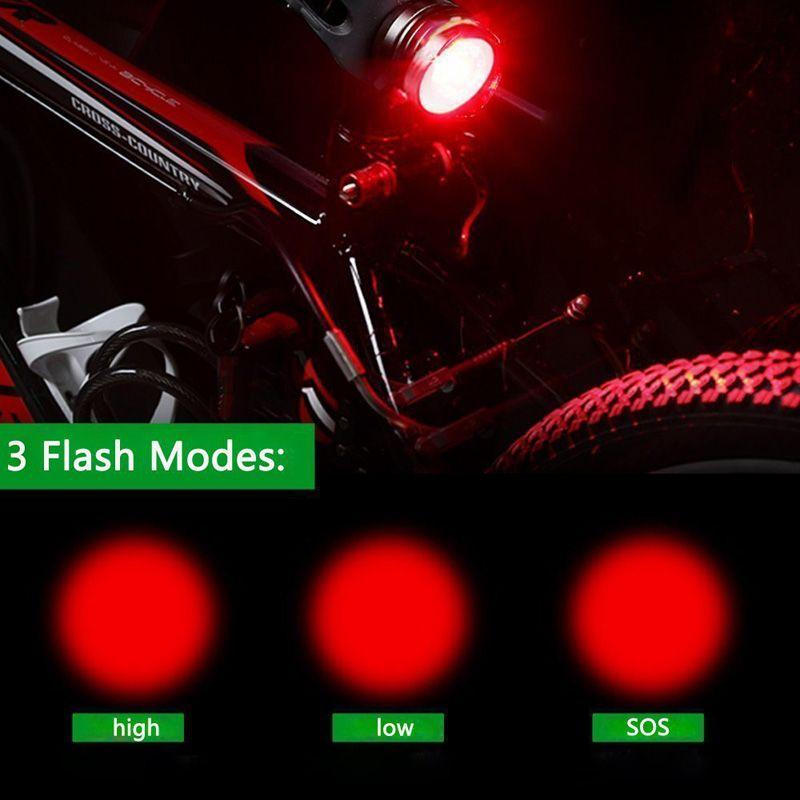 New bicycle headlight taillights set mountain bike lights cycling gem taillights riding flashlight super bright lights set