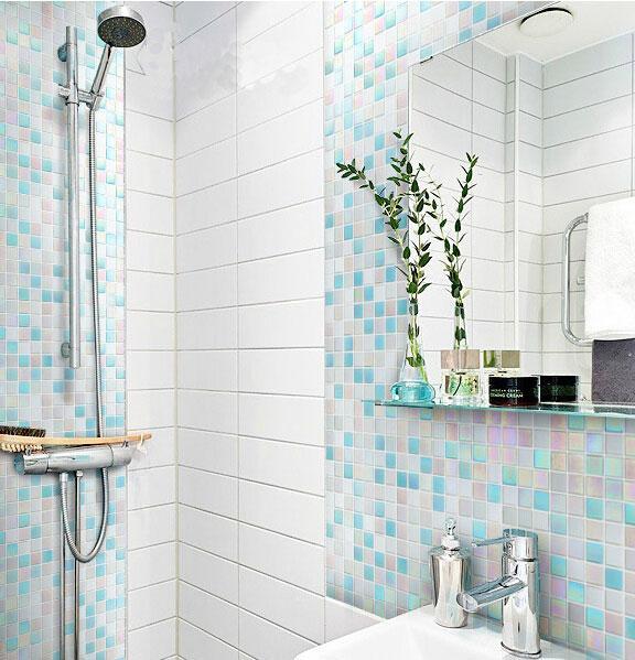 Resultado de imagen de Azulejos de vidrio baño