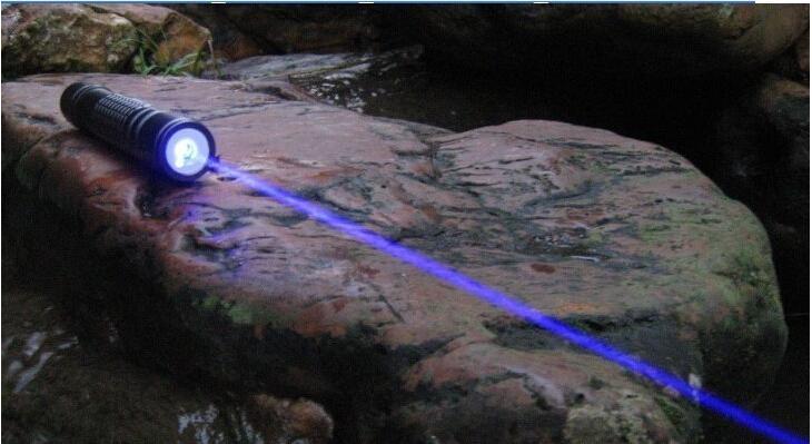 NUOVA alta potenza 1000m 405nm Potenti puntatori laser viola-blu viola SOS Lazer Torcia didattica da caccia, spedizione gratuita