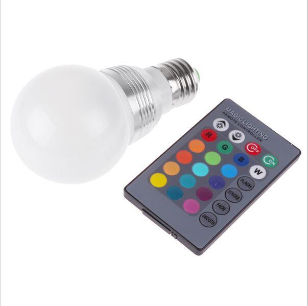 Led Bulbs & Tubes 3w E27 Remote Control Led Bulb Lamp Rgb 16 Color Spot