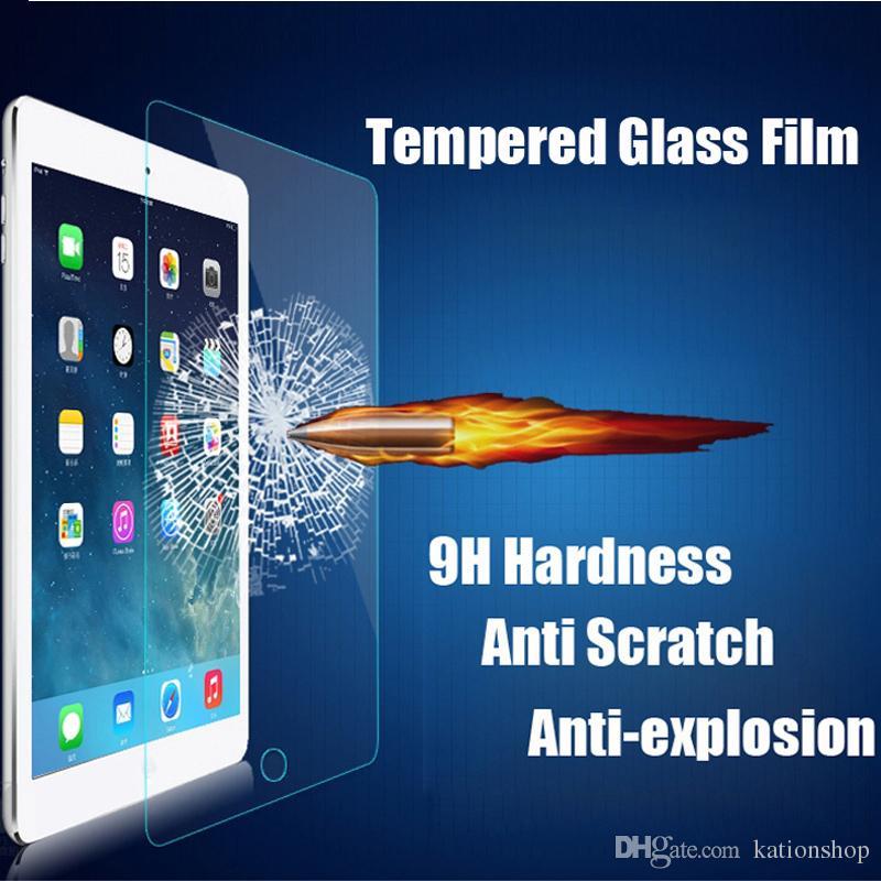 9 h 2.5d ipad air air2 için 0.3mm sertleştirilmiş temperli cam 9.7 inç patlamaya dayanıklı tablet pc filmi goophone i7 koruyun kapak