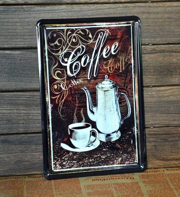 Coffee Metal Wall Art 2017 tin sign coffee metal decor wall art garage shop store cave