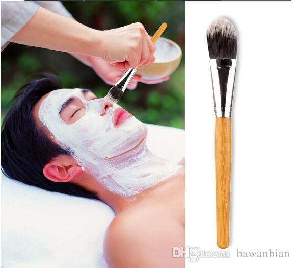 Nova mulher pincéis de maquiagem / Bamboo Handle Máscara Facial de escova da composição Face Beauty Brushes frete grátis