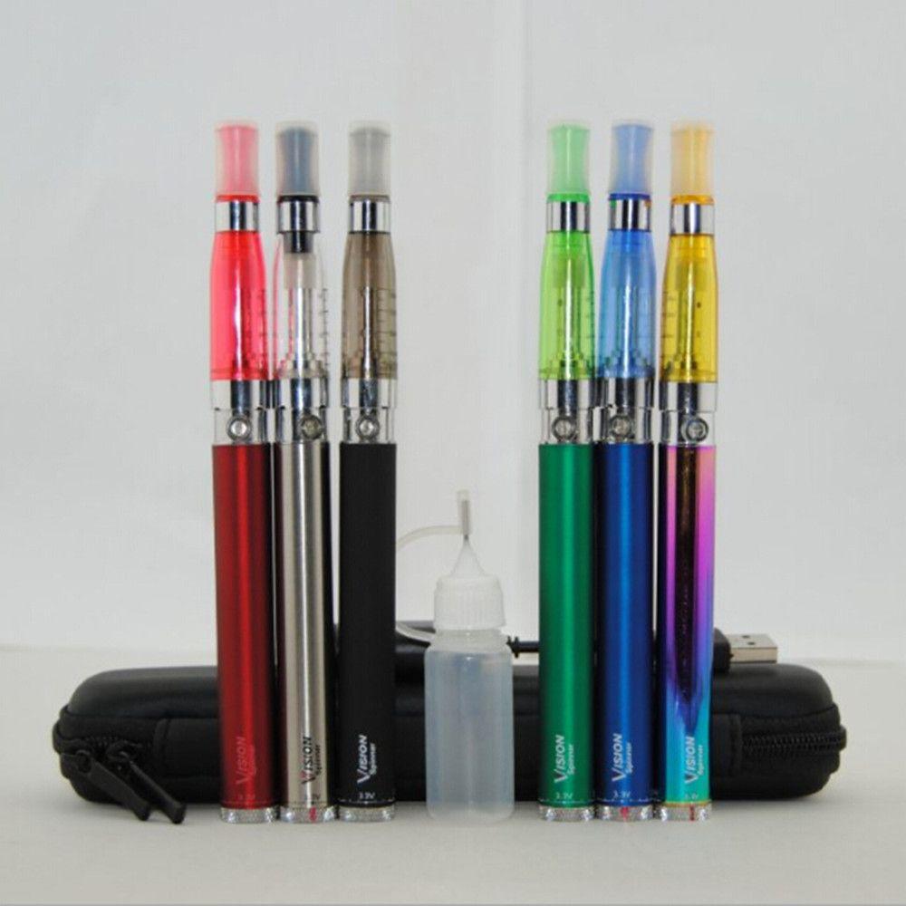 Vision Spinner Starter kits Ecigs eGo twist 650 900 1100 1300 мАч аккумулятор Ecigarette CE4 CE5 испаритель распылитель Vape ручки case kit