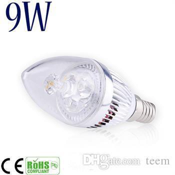 DHL Dim 9 W Cree LED Mum ampul E14 E12 E27 ışık lamba yüksek güç led downlight led lambalar avize aydınlatma 110-240 V 100