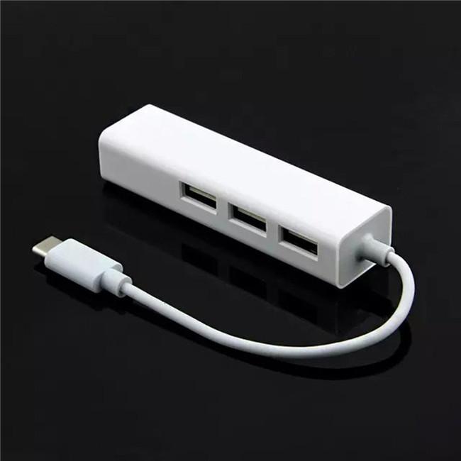 USB-C USB 3.1 Tipo C para USB HUB Com Adaptador Lan RJ45 Para 2015 Macbook