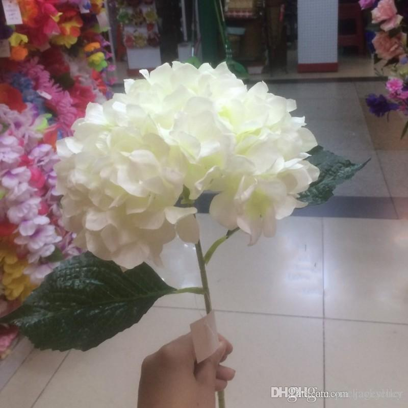 Online cheap artificial milk white hydrangea flower garland 80cm online cheap artificial milk white hydrangea flower garland 80cm315 single branch bouquet for wedding table runner decorative flowers by packageseller mightylinksfo