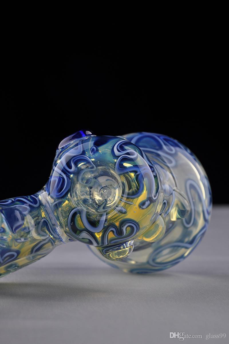 В STOCK цветного стекла труба Стекло барботер курить водопроводную трубу Стекло бом