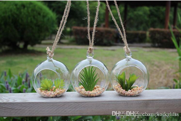2019 80mm Hanging Glass Candle Holders 12cm 6 Inch Air Plant Orb