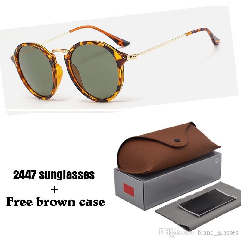 f07220c2a82af Compre Marca Designer De Óculos De Sol Redondos Para Homens E Mulheres  Retro Esportes Óculos De Sol Das Mulheres Dos Homens Uv400 Lentes Oculos De  Sol Com ...