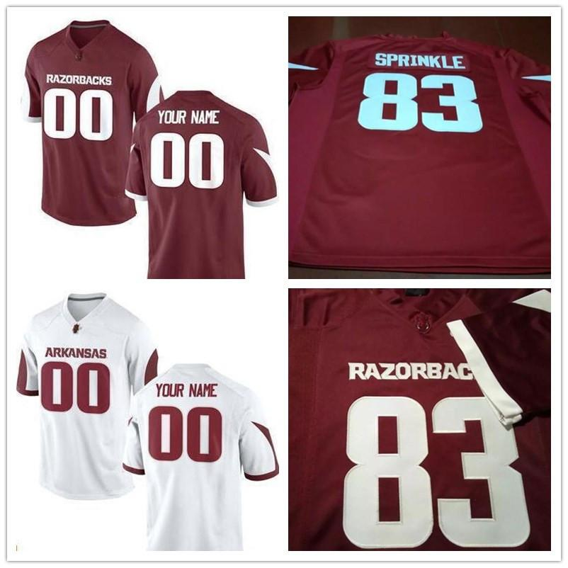 2019 Custom Mens Womens Kids Arkansas Razorbacks College 8 Austin Allen 72  Frank Ragnow White Marroon Red Full Stitched Logos Football Jerseys From ... 19157c695