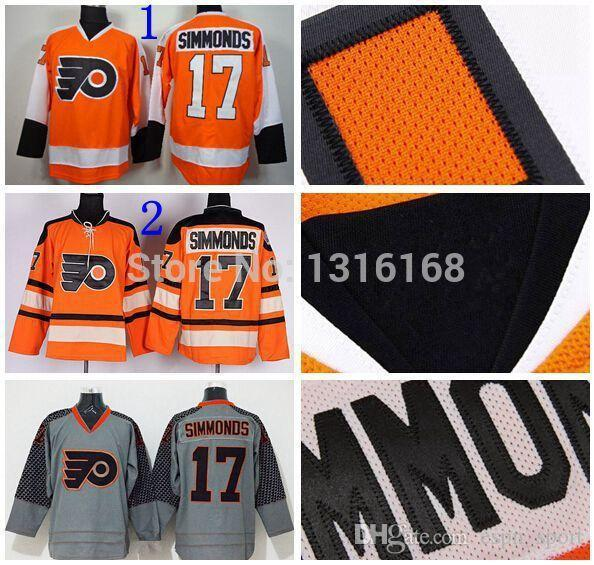 3d4d7c58 2019 2015 Philadelphia Flyers #17 Wayne Simmonds Jersey Orange Grey  Charcoal Cross Check Jersey Simmonds Winter Classic Jerseys Ice Hockey From  Espn_sport, ...