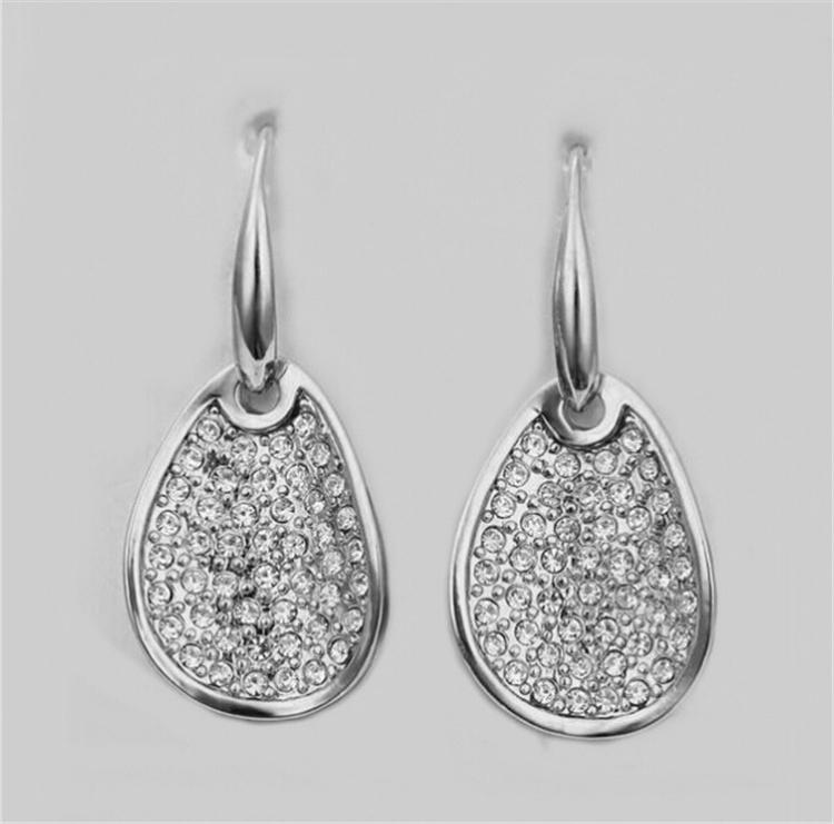 Bridal Rings Necklace and Earrings Sets Charming Tear a forma di goccia con strass Crystal Jewelry 3 pezzi Set Party 1346