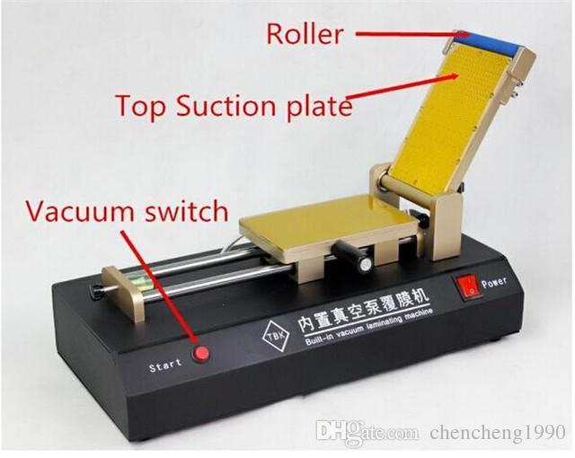 Bomba de vacío incorporada Máquina laminadora de laminado de película OCA para un máximo de 6 pulgadas Teléfono inteligente Teléfono móvil Cristal Pantalla táctil LCD Herramientas de reparación