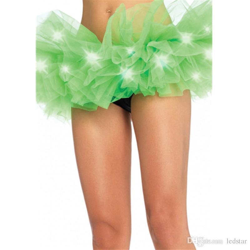 أزياء الألوان الرقص أدى توتو ميني تنورة فوق النيون يتوهم قوس قزح مصغرة توتو يتوهم زي الكبار ضوء تنورة
