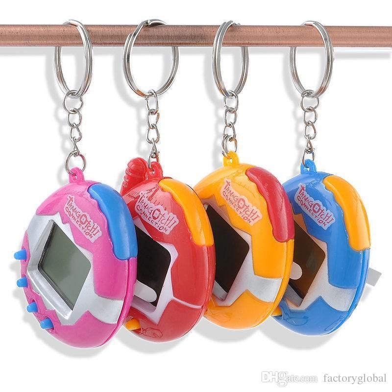 الإبداعية أحدث مضحك tamagotchi الحيوانات اللعب البطريق الشكل الملونة اللعب التاماجوشي الالكترونية مع بهلوان البيض شكل التعبئة والتغليف هدية عيد