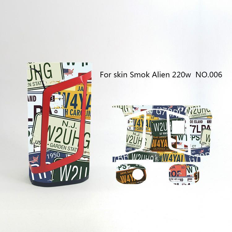 Alien 220W Skin Wraps Sticker Cases Cover for Alien 220 Watt TC Box Mod Vape Protective Film Stickers With Cool 18 Pattern