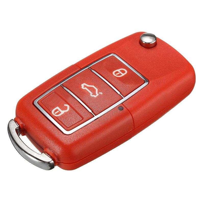 Red 3 Button Remote Key Fob Case Shell For Volkswagen VW Bora Beetle Golf Polo Passat Plastic Car Replacement Key Cover
