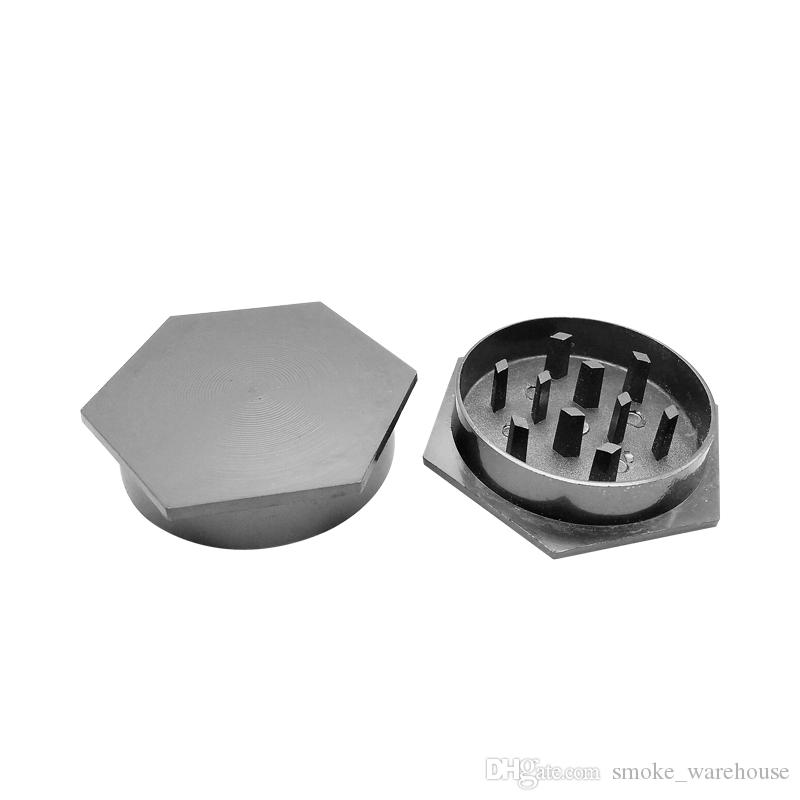 Easy to carry 50mm 2 layer metal grinder with Zicn alloy cnc teeth tobacco grinder for smoking water pipes colorful grinders Fast delivery