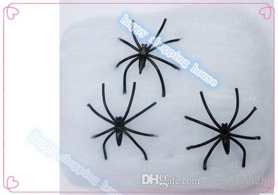 Ücretsiz kargo Şenlikli Parti Malzemeleri Olay Parti Malzemeleri Cadılar Bayramı Dekor sahne aptal hediye seti pamuk örümcek örümcek ipek örümcek