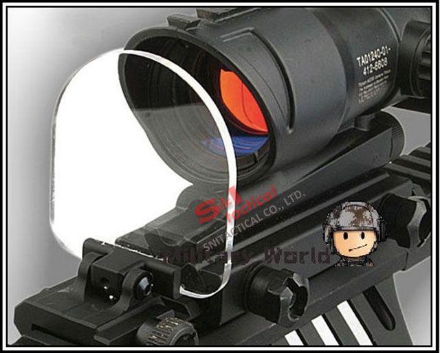 Новый пуленепробиваемый объектив протектор складной для страйкбол сфера красный зеленый точка зрения для ACOG / AIMPOINT темная земля