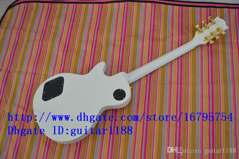 new ELECTRIC GUITAR in white with mahogany body instrument music 1171