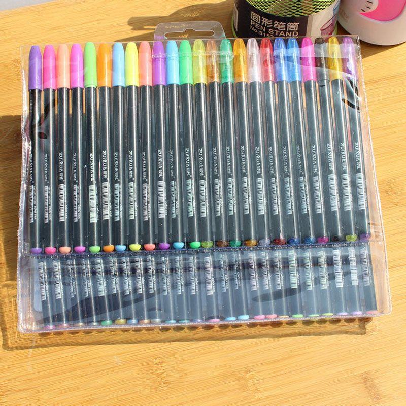 DHL penas de gel quente ou gel recarga rollerball pastel neon glitter caneta desenho cor caneta de cor estudante estudante presente